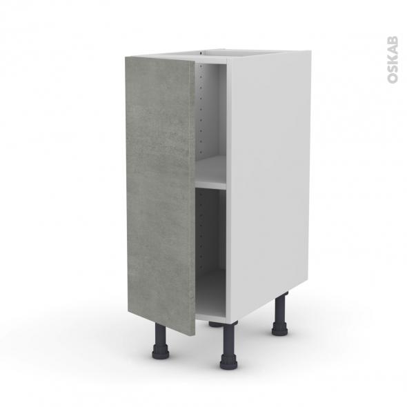 Meuble de cuisine - Bas - FAKTO Béton - 1 porte - L30 x H70 x P58 cm