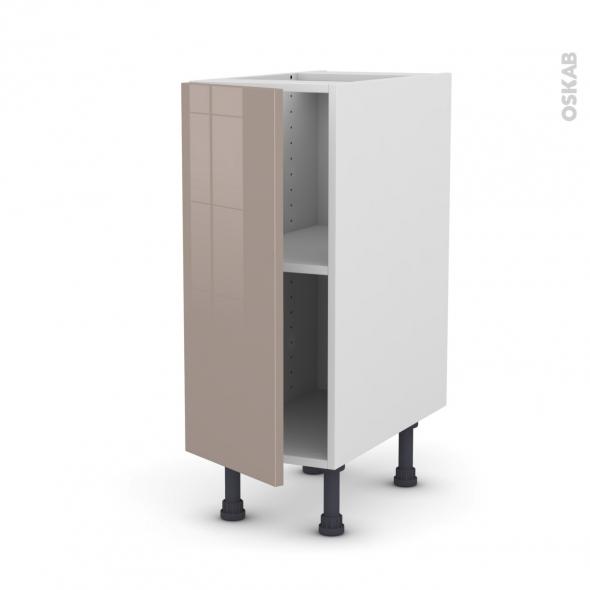 Meuble de cuisine - Bas - KERIA Moka - 1 porte - L30 x H70 x P58 cm