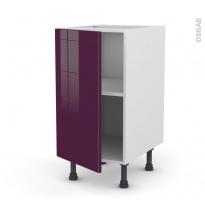 Meuble de cuisine - Bas - KERIA Aubergine - 1 porte - L40 x H70 x P58 cm