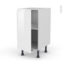 Meuble de cuisine - Bas - IPOMA Blanc - 1 porte - L40 x H70 x P58 cm