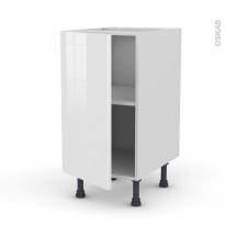 Meuble de cuisine - Bas - STECIA Blanc - 1 porte - L40 x H70 x P58 cm