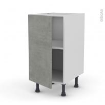 Meuble de cuisine - Bas - FAKTO Béton - 1 porte - L40 x H70 x P58 cm