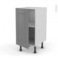 Meuble de cuisine - Bas - FILIPEN Gris - 1 porte - L40 x H70 x P58 cm