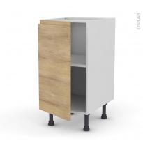 Meuble de cuisine - Bas - IPOMA Chêne naturel - 1 porte - L40 x H70 x P58 cm
