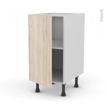 IKORO Chêne clair - Meuble bas cuisine  - 1 porte - L40xH70xP58