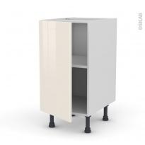 Meuble de cuisine - Bas - KERIA Ivoire - 1 porte - L40 x H70 x P58 cm
