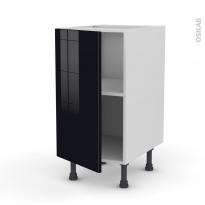 Meuble de cuisine - Bas - KERIA Noir - 1 porte - L40 x H70 x P58 cm