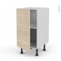 STILO Noyer Blanchi - Meuble bas cuisine  - 1 porte - L40xH70xP58