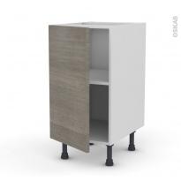 Meuble de cuisine - Bas - STILO Noyer Naturel - 1 porte - L40 x H70 x P58 cm