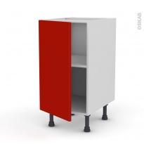 GINKO Rouge - Meuble bas cuisine  - 1 porte - L40xH70xP58