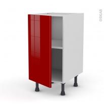 Meuble de cuisine - Bas - STECIA Rouge - 1 porte - L40 x H70 x P58 cm