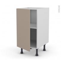 Meuble de cuisine - Bas - GINKO Taupe - 1 porte - L40 x H70 x P58 cm