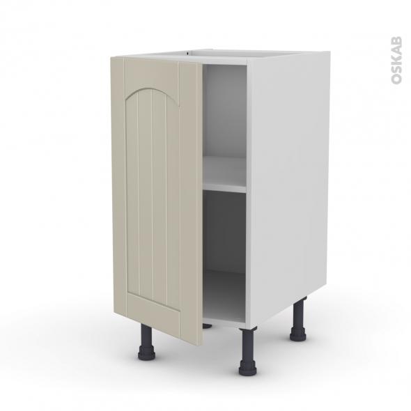 SILEN Argile - Meuble bas cuisine  - 1 porte - L40xH70xP58 - gauche
