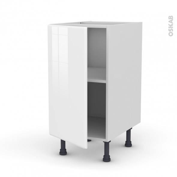 Meuble de cuisine - Bas - IRIS Blanc - 1 porte - L40 x H70 x P58 cm