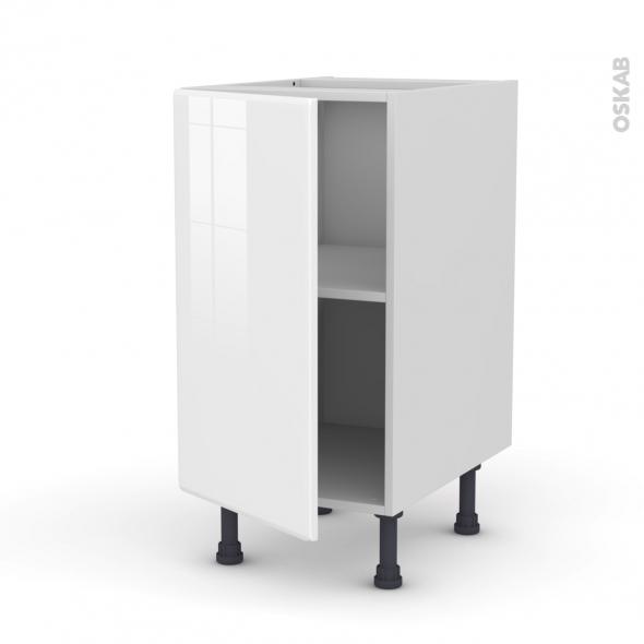 IRIS Blanc - Meuble bas cuisine  - 1 porte - L40xH70xP58