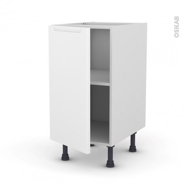 Meuble de cuisine - Bas - PIMA Blanc - 1 porte - L40 x H70 x P58 cm