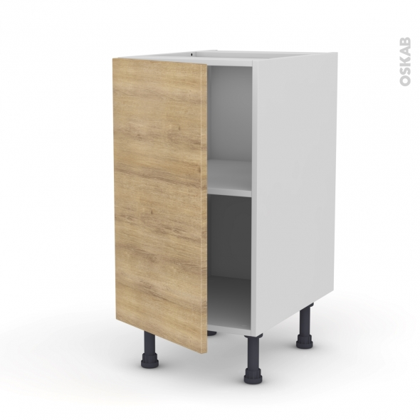 Meuble de cuisine - Bas - HOSTA Chêne naturel - 1 porte - L40 x H70 x P58 cm