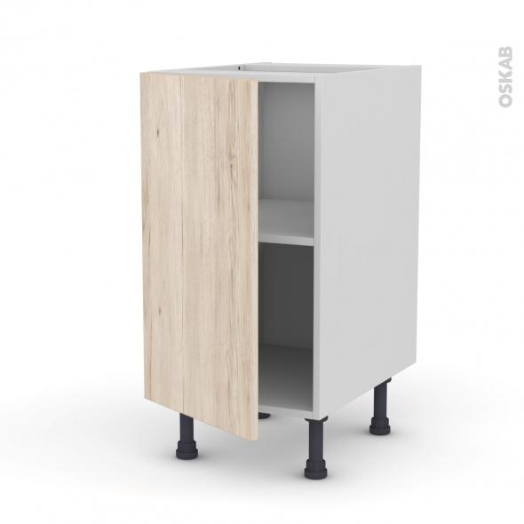 Meuble de cuisine - Bas - IKORO Chêne clair - 1 porte - L40 x H70 x P58 cm