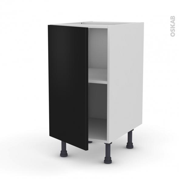 Meuble de cuisine - Bas - GINKO Noir - 1 porte - L40 x H70 x P58 cm