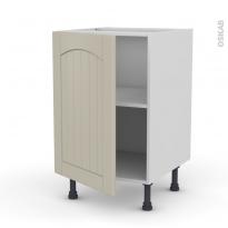 SILEN Argile - Meuble bas cuisine  - 1 porte - L50xH70xP58 - gauche