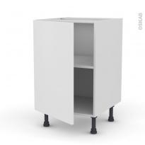 Meuble de cuisine - Bas - GINKO Blanc - 1 porte - L50 x H70 x P58 cm