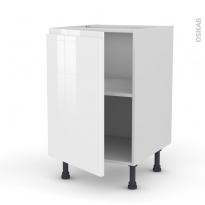 Meuble de cuisine - Bas - IPOMA Blanc - 1 porte - L50 x H70 x P58 cm