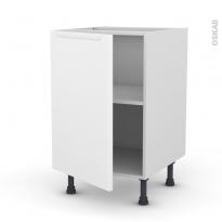 Meuble de cuisine - Bas - PIMA Blanc - 1 porte - L50 x H70 x P58 cm