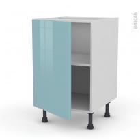 KERIA Bleu - Meuble bas cuisine  - 1 porte - L50xH70xP58