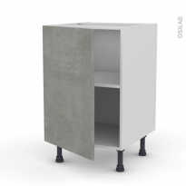 Meuble de cuisine - Bas - FAKTO Béton - 1 porte - L50 x H70 x P58 cm