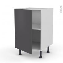 Meuble de cuisine - Bas - GINKO Gris - 1 porte - L50 x H70 x P58 cm