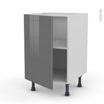 Meuble de cuisine - Bas - STECIA Gris - 1 porte - L50 x H70 x P58 cm