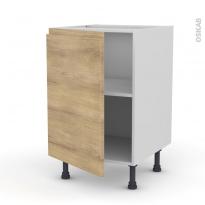 Meuble de cuisine - Bas - IPOMA Chêne naturel - 1 porte - L50 x H70 x P58 cm