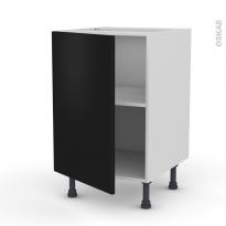 Meuble de cuisine - Bas - GINKO Noir - 1 porte - L50 x H70 x P58 cm