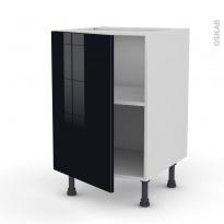 Meuble de cuisine - Bas - KERIA Noir - 1 porte - L50 x H70 x P58 cm