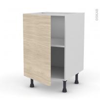 Meuble de cuisine - Bas - STILO Noyer Blanchi - 1 porte - L50 x H70 x P58 cm