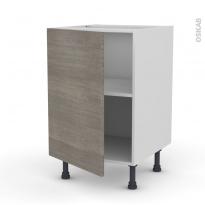Meuble de cuisine - Bas - STILO Noyer Naturel - 1 porte - L50 x H70 x P58 cm
