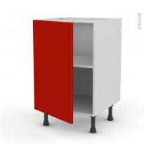 GINKO Rouge - Meuble bas cuisine  - 1 porte - L50xH70xP58