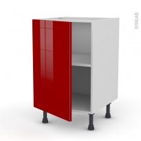 Meuble de cuisine - Bas - STECIA Rouge - 1 porte - L50 x H70 x P58 cm