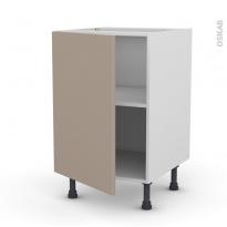 Meuble de cuisine - Bas - GINKO Taupe - 1 porte - L50 x H70 x P58 cm