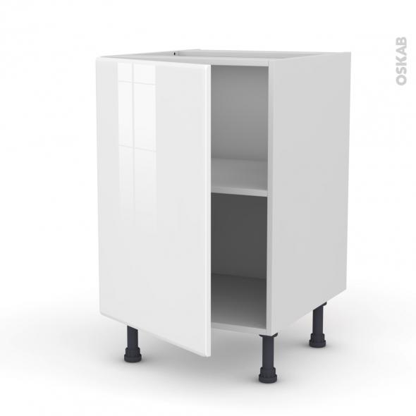 Meuble de cuisine - Bas - IRIS Blanc - 1 porte - L50 x H70 x P58 cm