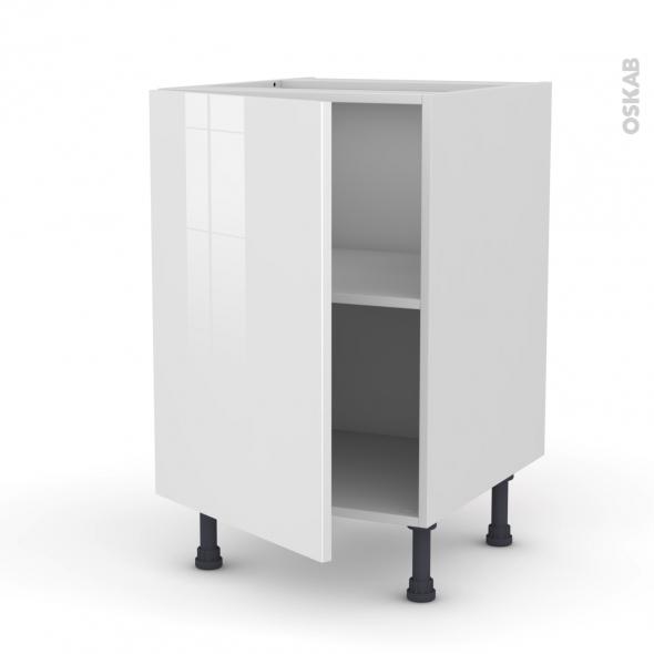 STECIA Blanc - Meuble bas cuisine  - 1 porte - L50xH70xP58