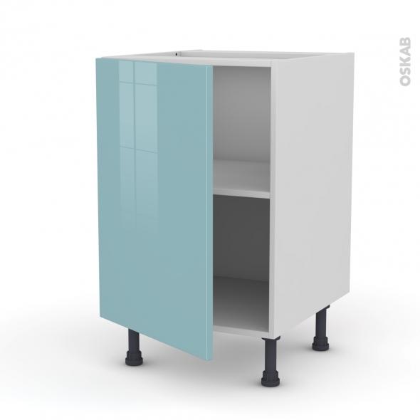Meuble de cuisine - Bas - KERIA Bleu - 1 porte - L50 x H70 x P58 cm