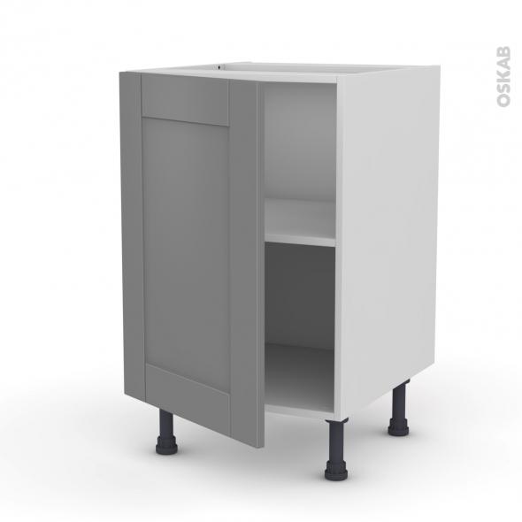 Meuble de cuisine - Bas - FILIPEN Gris - 1 porte - L50 x H70 x P58 cm