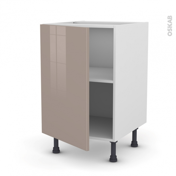 Meuble de cuisine - Bas - KERIA Moka - 1 porte - L50 x H70 x P58 cm