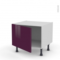 Meuble de cuisine - Bas - KERIA Aubergine - 1 porte - L60 x H41 x P58 cm