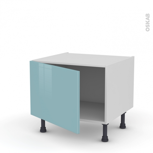Meuble de cuisine - Bas - KERIA Bleu - 1 porte - L60 x H41 x P58 cm