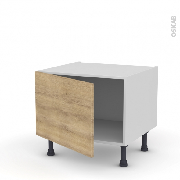 Meuble de cuisine - Bas - HOSTA Chêne naturel - 1 porte - L60 x H41 x P58 cm