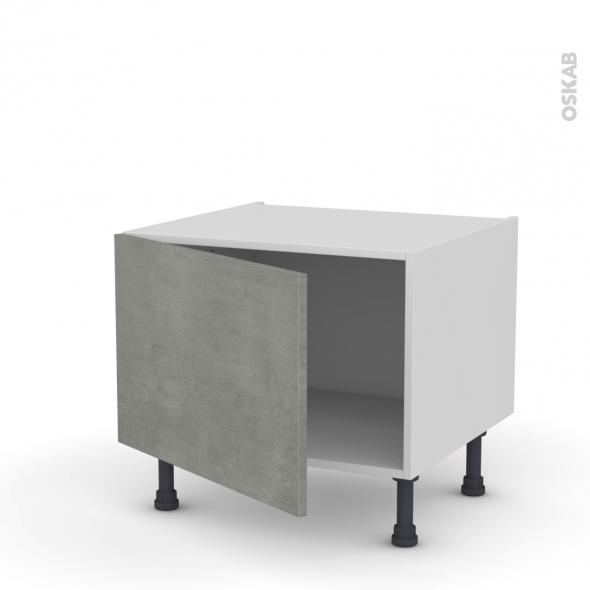 Meuble de cuisine - Bas - FAKTO Béton - 1 porte - L60 x H41 x P58 cm
