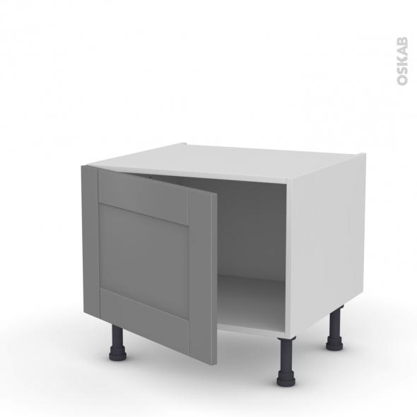 Meuble de cuisine - Bas - FILIPEN Gris - 1 porte - L60 x H41 x P58 cm