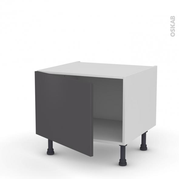 Meuble de cuisine - Bas - GINKO Gris - 1 porte - L60 x H41 x P58 cm